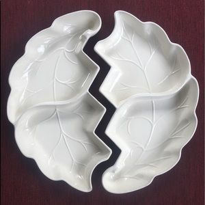 California Pottery Vintage leaves serving dishes